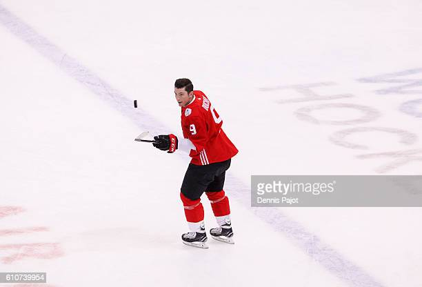 Matt Duchene of Team Canada warms up prior to Game One of the World Cup of Hockey final series at the Air Canada Centre on September 27 2016 in...
