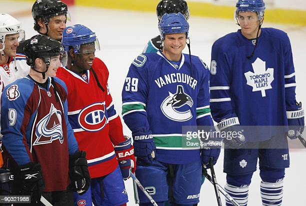 Matt Duchene of the Colorado Avalanche Bobby Sanguinetti of the New York Rangers PK Subban of the Montreal Canadiens Eric Tangradi Pittsburgh...