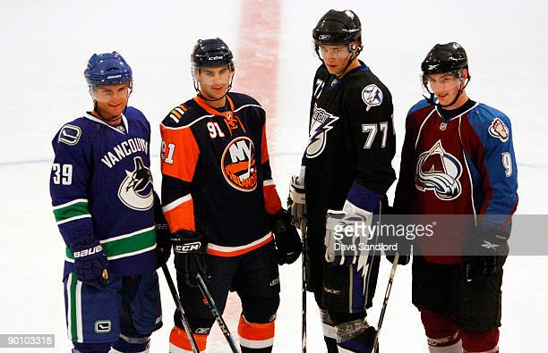 Matt Duchene of the Colorado Avalanche Cody Hodgson of the Vancouver Canucks John Tavares of the New York Islanders and Victor Hedman of the Tampa...