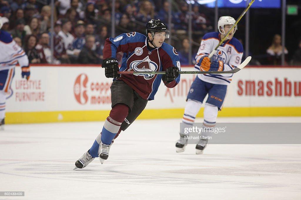 Matt Duchene #9 of the Colorado Avalanche skates against the Edmonton Oilers at the Pepsi Center on December 19, 2015 in Denver, Colorado.