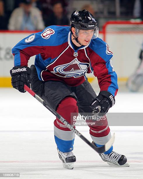 Matt Duchene of the Colorado Avalanche skates against the Los Angeles Kings at the Pepsi Center on January 22 2013 in Denver Colorado The Avalanche...
