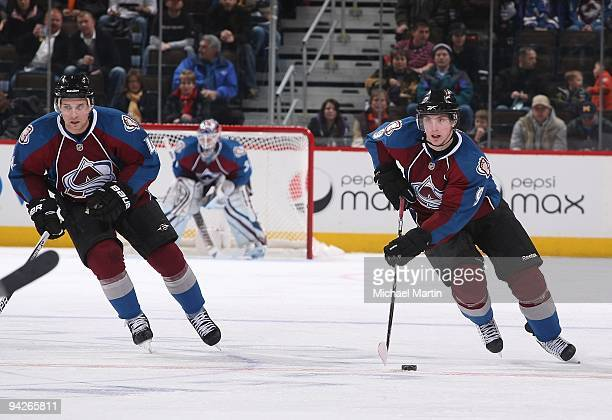 Matt Duchene of the Colorado Avalanche skates against the Minnesota Wild at the Pepsi Center on December 9 2009 in Denver Colorado The Wild defeated...