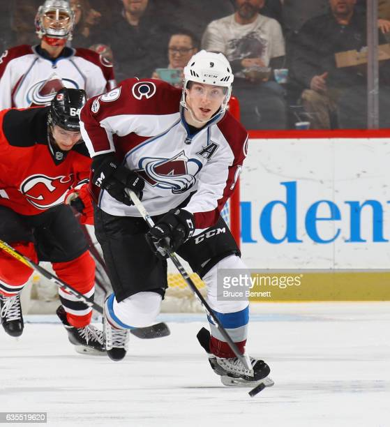 Matt Duchene of the Colorado Avalanche skates against the New Jersey Devils at the Prudential Center on February 14 2017 in Newark New Jersey The...