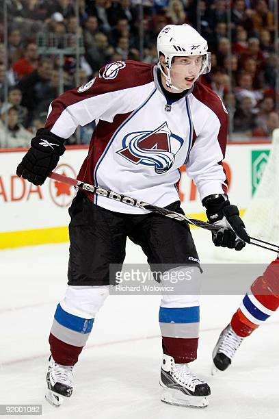 Matt Duchene of the Colorado Avalanche skates during the NHL game against the Montreal Canadiens on October 15 2009 at the Bell Centre in Montreal...