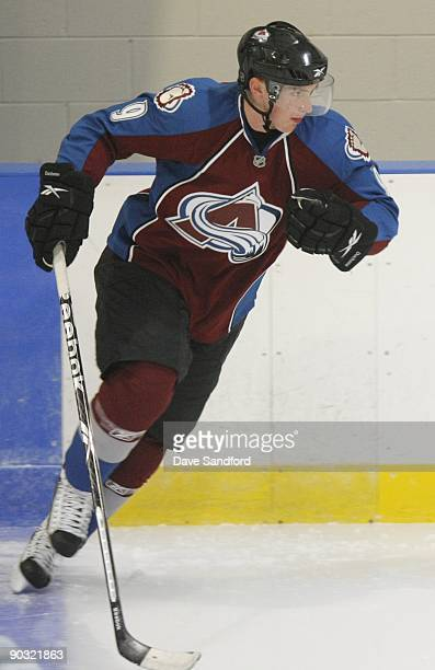 Matt Duchene of the Colorado Avalanche skates during the Upper Deck NHL Rookie Debut on August 26 2009 at the Hershey Centre in Mississauga Ontario