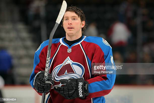 Matt Duchene of the Colorado Avalanche warms up prior to facing the Anaheim Ducks at the Pepsi Center on February 6 2013 in Denver Colorado The Ducks...