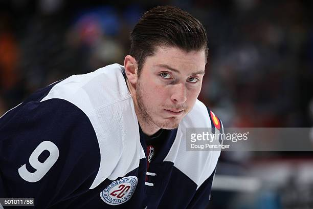 Matt Duchene of the Colorado Avalanche warms up prior to facing the Pittsburgh Penguins at Pepsi Center on December 9 2015 in Denver Colorado The...