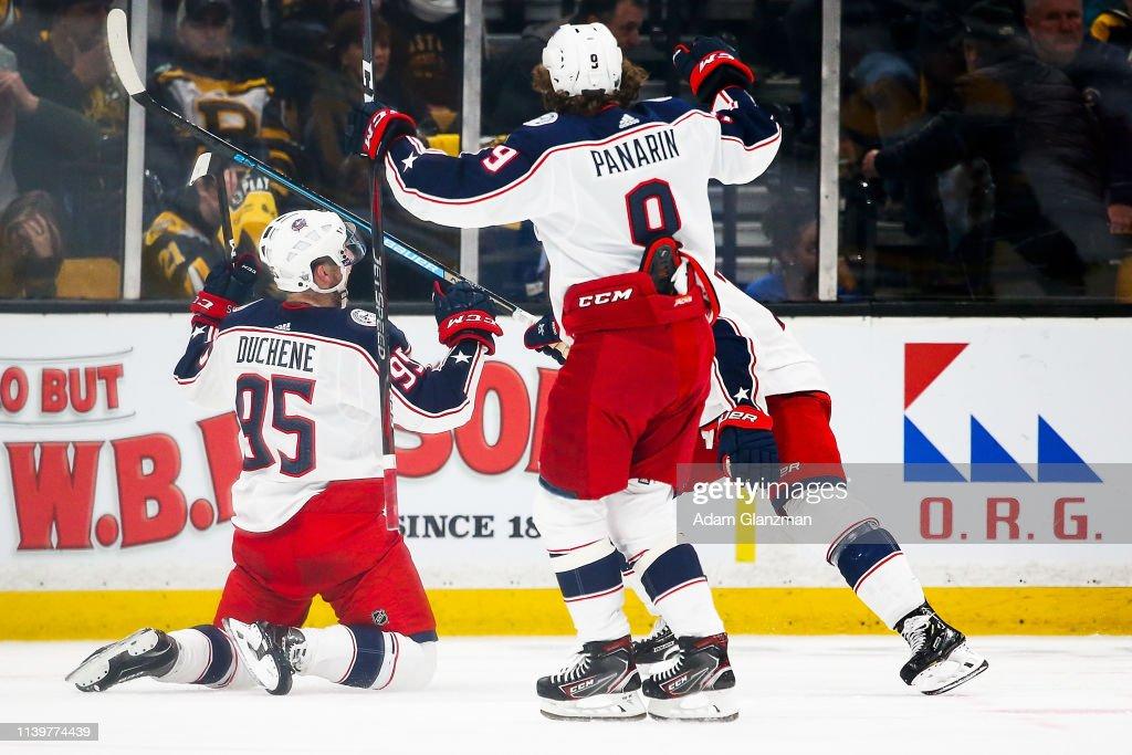 Columbus Blue Jackets v Boston Bruins - Game Two : News Photo