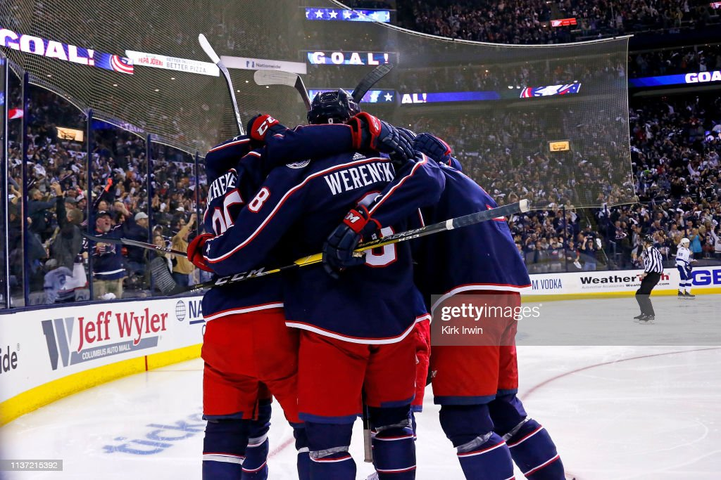 Tampa Bay Lightning v Columbus Blue Jackets - Game Three : News Photo