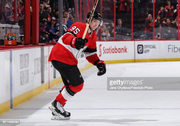 Matt Duchene of the Ottawa Senators acknowledges the fans after being named second star of the game following a win against the New York Rangers at...