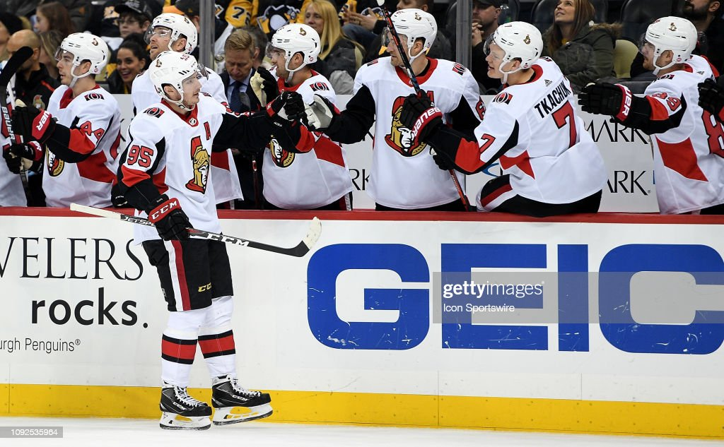 NHL: FEB 01 Senators at Penguins : News Photo