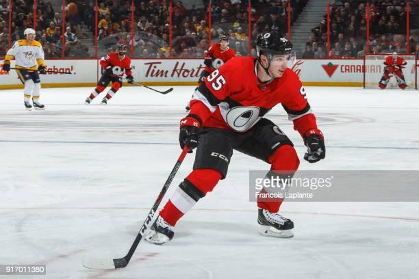 Matt Duchene of the Ottawa Senators skates against the Nashville Predators at Canadian Tire Centre on February 9 2018 in Ottawa Ontario Canada