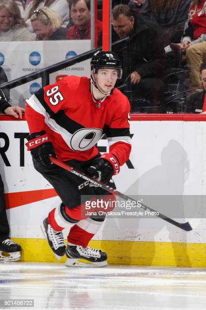 Matt Duchene of the Ottawa Senators skates against the New York Rangers at Canadian Tire Centre on February 17 2018 in Ottawa Ontario Canada