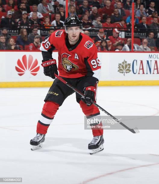 Matt Duchene of the Ottawa Senators skates against the Philadelphia Flyers at Canadian Tire Centre on October 10 2018 in Ottawa Ontario Canada