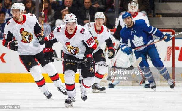 Matt Duchene of the Ottawa Senators skates against the Toronto Maple Leafs during the second period at the Air Canada Centre on February 10 2018 in...