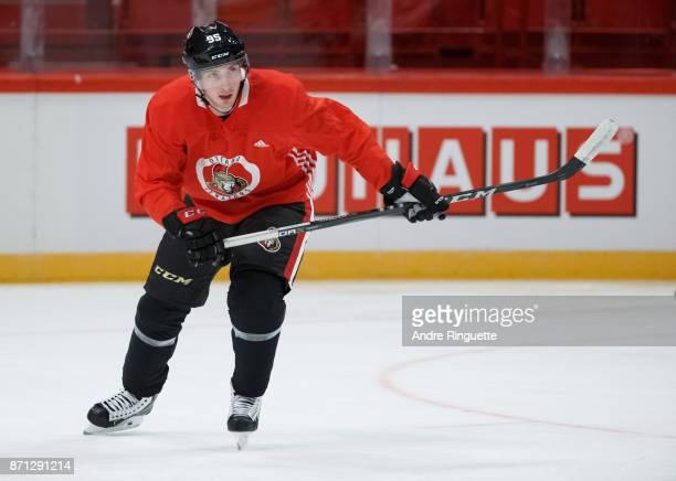 Matt Duchene of the Ottawa Senators skates during practice at Ericsson Globe on November 7 2017 in Stockholm Sweden
