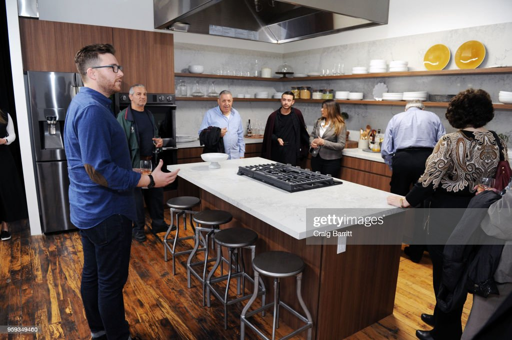 Matt Ducker (L) attends the AD, Bon Appetit and Delta Faucet toast of the Conde Nast Kitchen Studio on May 16, 2018 in New York City.