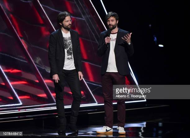 Matt Duffer and Ross Duffer attend The 2018 Game Awards at Microsoft Theater on December 06, 2018 in Los Angeles, California.