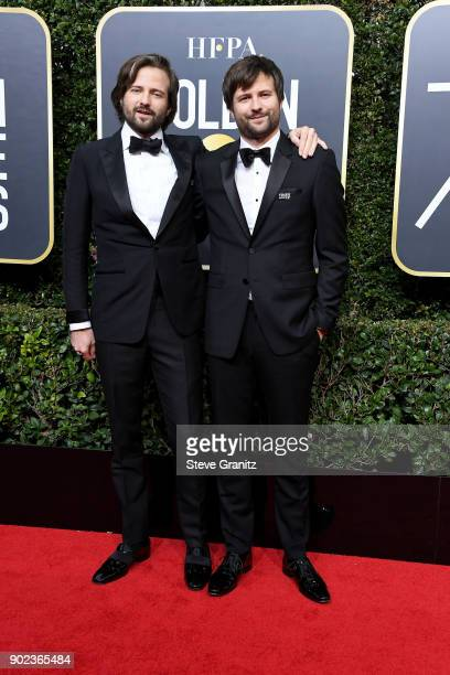 Matt Duffer and Ross Duffer attend The 75th Annual Golden Globe Awards at The Beverly Hilton Hotel on January 7 2018 in Beverly Hills California