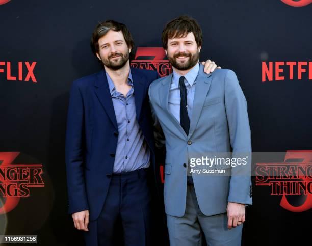 Matt Duffer and Ross Duffer attend the premiere of Netflix's Stranger Things Season 3 on June 28 2019 in Santa Monica California