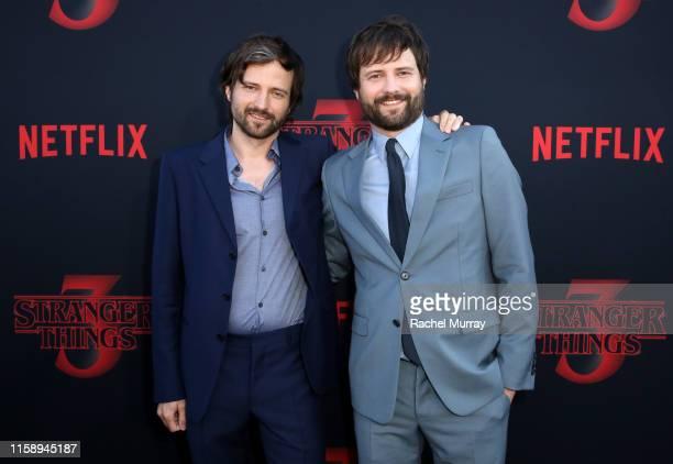 Matt Duffer and Ross Duffer attend the Stranger Things Season 3 World Premiere on June 28 2019 in Santa Monica California