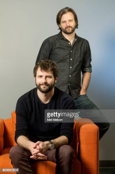 Matt Duffer Ross Duffer creators of Netflix's 'Stranger Things' are photographed for Los Angeles Times on July 26 2017 in Los Angeles California...