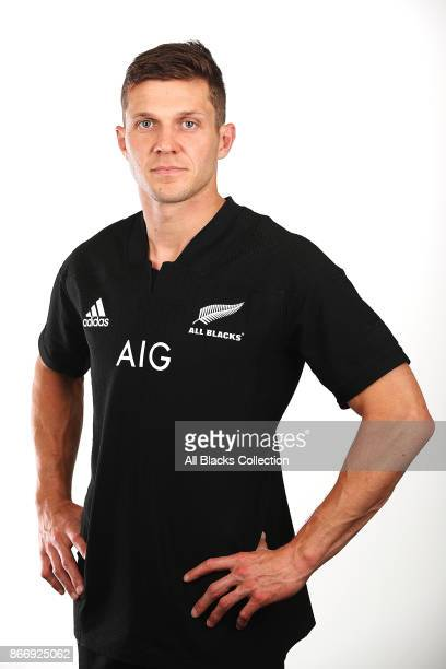 Matt Duffie poses for a portrait during the New Zealand All Blacks End of Year Tour headshots session on October 27 2017 in Auckland New Zealand