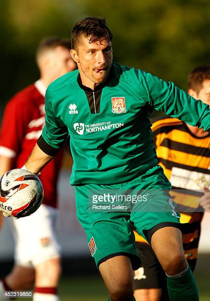Matt Duke of Northampton Town FC in during the preseason friendly at Recreation Park on July 17 2014 in Alloa Scotland