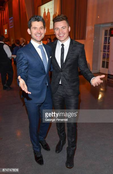 Matt Dusk and Shawn Hook attend 2017 Canada's Walk of Fame at The Liberty Grand on November 15 2017 in Toronto Canada