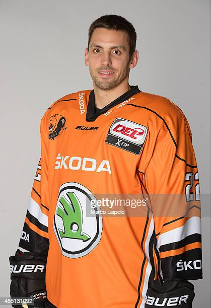 Matt Dzieduszycki of Grizzly Adams Wolfsburg during the photo shoot for the autograph cardson july 30, 2014 in Wolfsburg, Germany.