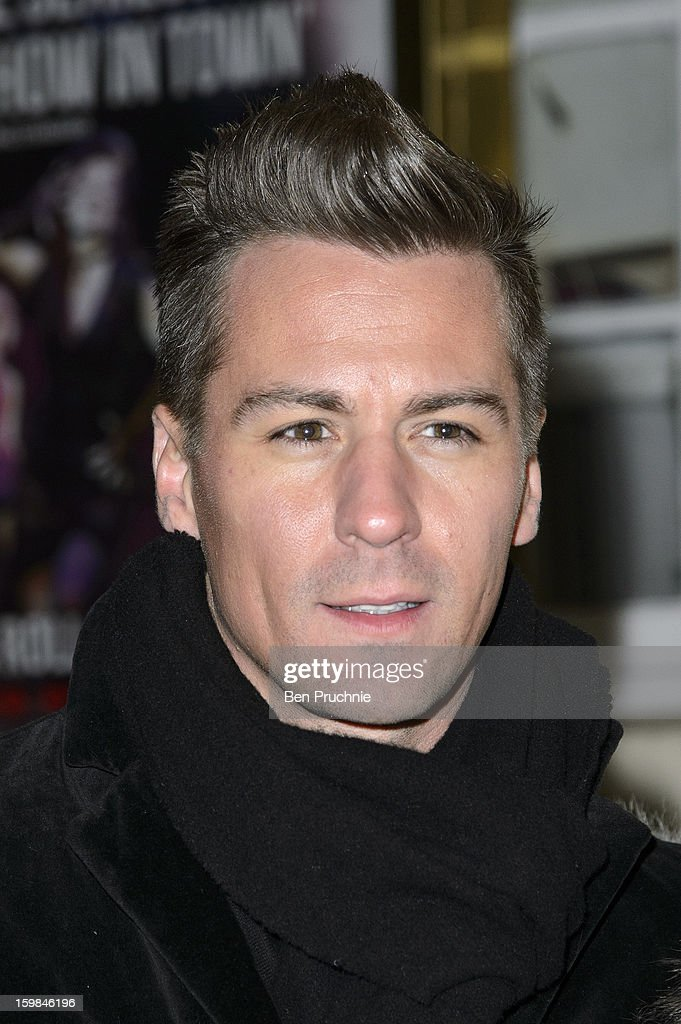 Matt Evers attends the opening night of The Rocky Horror Picture Show at New Wimbledon Theatre on January 21, 2013 in Wimbledon, England.