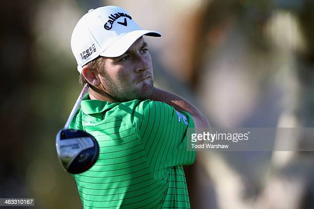 Matt Every hits a tee shot at the second hole on the Arnold Palmer Private Course at PGA West during the second round of the Humana Challenge in...