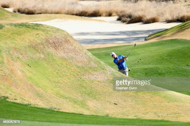 Matt Every hits his second shot on the first hole of the Jack Nicklaus Private Course at PGA West during the first round of the Humana Challenge in...