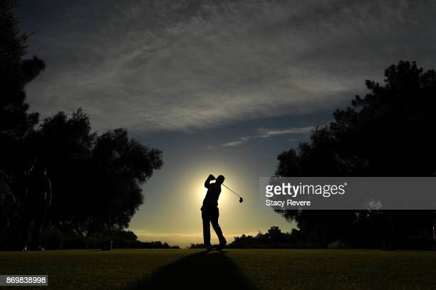 Matt Every hits his tee shot on the fourth hole during the second round of the Shriners Hospitals For Children Open at the TPC Summerlin on November...