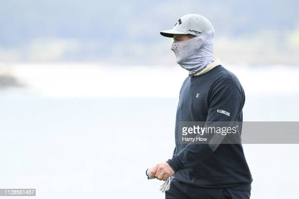 Matt Every of the United States looks on from the eighth hole during the third round of the ATT Pebble Beach ProAm at Pebble Beach Golf Links on...