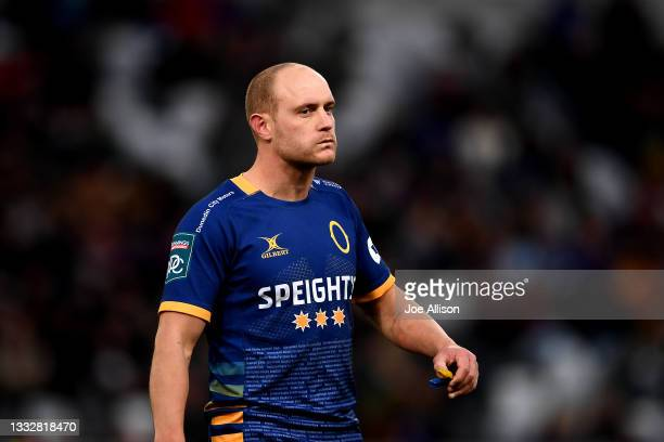 Matt Faddes of Otago looks on during the round one Bunnings NPC match between Otago and Southland at Forsyth Barr Stadium, on August 07 in Dunedin,...