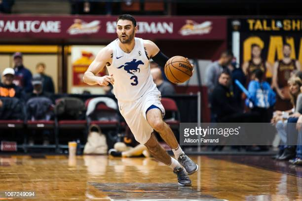 Matt Farrell of the Delaware Blue Coats handles the ball against the Canton Charge during the NBA GLeague on December 1 2018 at the Canton Memorial...