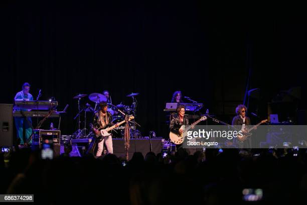 Matt Fink Brownmark Bobby Z Wendy Melvoin Lisa Coleman and Miko Weaver of The Revolution perform at Majestic Theater on May 20 2017 in Detroit...