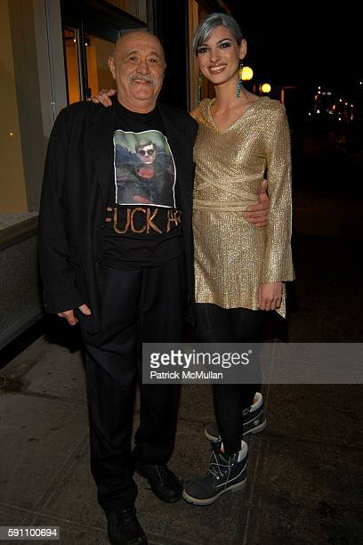 Matt Finkelstein and Aria Pullman attend Edie Sedgwick Unseen Photographs of a Warhol Superstar Opening Reception Hosted by Misha Sedgwick at 111 4th...