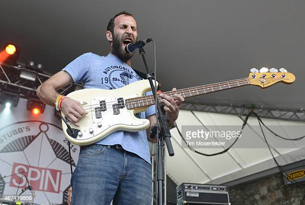 Matt Flegel of Viet Cong performs at the Spin Party at Stubbs BarBQue on March 20 2015 in Austin Texas