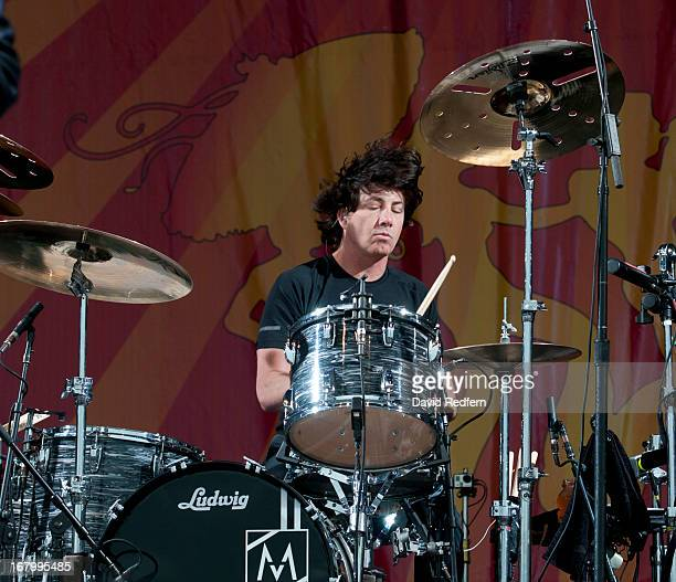 Matt Flynn of Maroon 5 performs on stage on Day 5 of New Orleans Jazz Festival on May 3, 2013 in New Orleans, Louisiana.