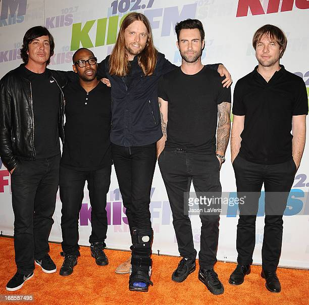 Matt Flynn PJ Morton James Valentine Adam Levine and Mickey Madden of Maroon 5 attend 1027 KIIS FM's Wango Tango at The Home Depot Center on May 11...