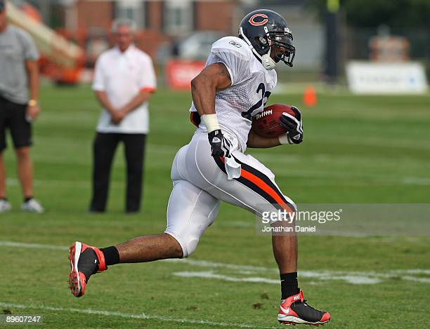 95eb894d1435d7 Matt Forte of the Chicago Bears works out during a training camp practice  at Olivet Nazarene