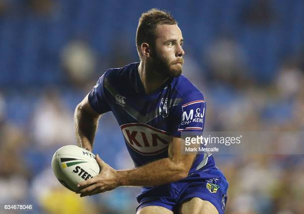 Matt Frawley of the Bulldogs in action during the NRL Trial match between the Canterbury Bulldogs and the Penrith Panthers at Belmore Sports Ground...