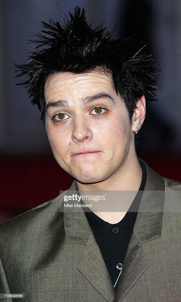 Matt from Busted during The 2004 Brit Awards - Arrivals at Earls Court in London, Great Britain.