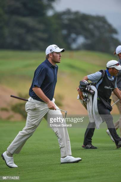 Matt Gilchrest of the United States during the third round of the PGA TOUR Latinoamérica Guatemala Stella Artois Open at La Reunion Golf Resort Fuego...