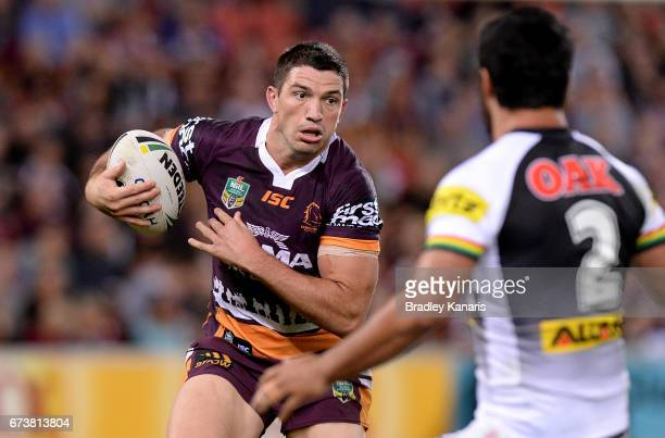 Matt Gillett of the Broncos in action during the round nine NRL match between the Brisbane Broncos and the Penrith Panthers at Suncorp Stadium on...