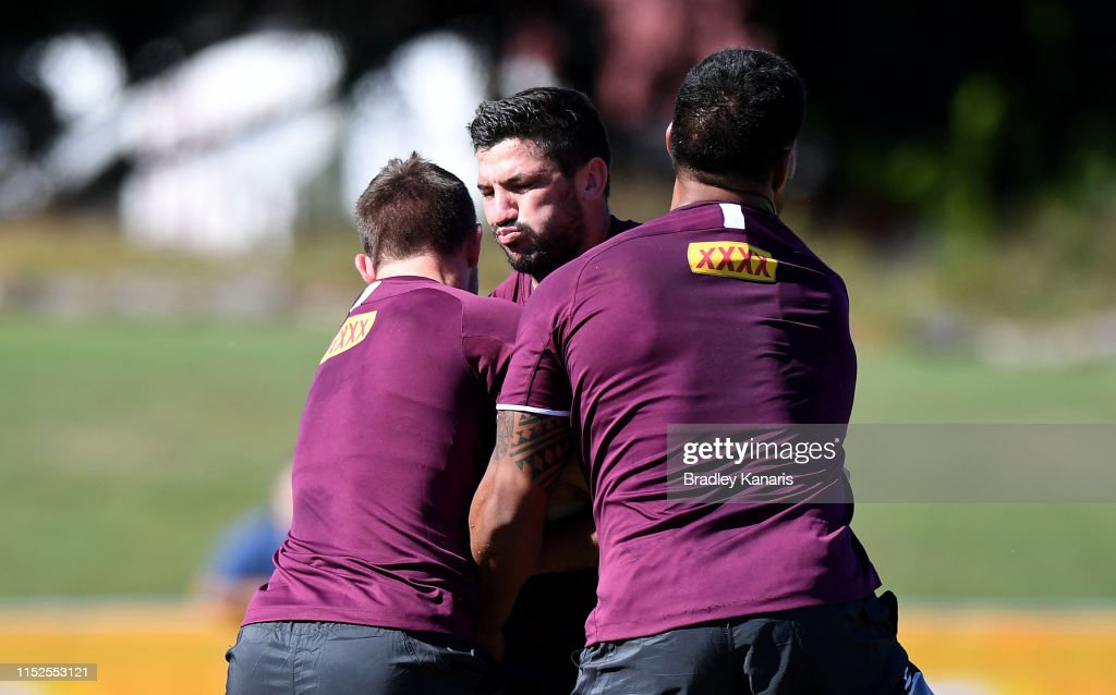 Queensland Maroons Training Session & Media Opportunity : News Photo