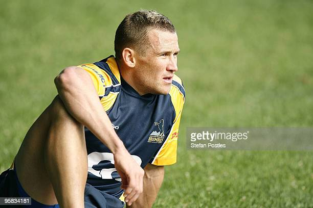 Matt Giteau during a Brumbies Super14 training session at Griffith Oval on January 18 2010 in Canberra Australia