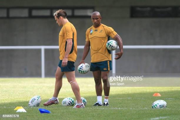 Matt GITEAU et George GREGAN 1er entrainement de l'Australie a Montpellier Stade Ovalie Yves du Manoir